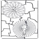 Mandala-malesider - Children mandala