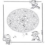 Mandala-malesider - Children/Geo Mandala