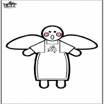 Jule-malesider - Christmas Angel - Prickingcard