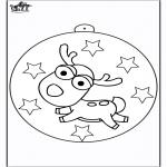 Jule-malesider -  Christmas ball Reindeer
