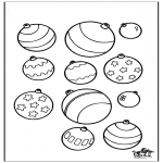 Jule-malesider - Christmas coloring page