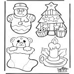 Jule-malesider - Christmasdecoration 1
