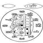 Håndarbejde - Clock Cars