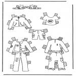 Håndarbejde - Cloth paper doll 1