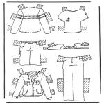 Håndarbejde - Cloth paper doll 2