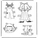 Håndarbejde - Cloth paper doll 3