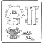 Håndarbejde - Cloth paper doll 5