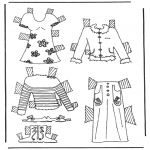 Håndarbejde - Cloth paper doll 6