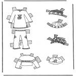 Håndarbejde - Cloth paper doll 7