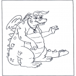 Dyre-malesider - Coloring page dragon