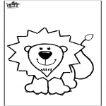 Dyre-malesider - Coloring page lion
