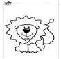 Coloring page lion
