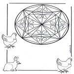 Mandala-malesider - Coloring page mandala hearts