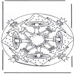 Mandala-malesider - Coloring page Mandala
