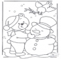 Coloring page snow