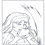Diverse - Coloring page Snow White