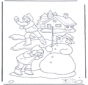Coloring page snowball