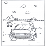 Diverse - Coloring pages car