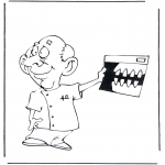 Diverse - Coloring pages dentists