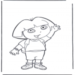 Børne-malesider - Coloring pages Dora the Explorer