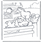 Dyre-malesider - Coloring pages farm