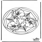 Mandala-malesider - Coloring pages mandala angel