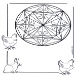 Mandala-malesider - Coloring pages mandala animals