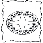 Mandala-malesider - Coloring pages mandala football
