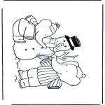 Vinter-malesider - Coloring pages Snowman 1
