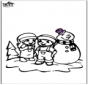 Coloring pages Snowman 2