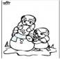 Coloring pages Snowman 3