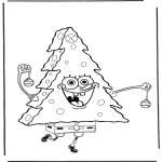 Børne-malesider - Coloring pages Spongebob