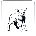 Diverse - Coloring sheet lamb