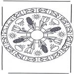 Mandala-malesider - Coloring sheets mandala spring