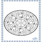 Prik-kort - Coloring sheets Winter