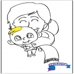 Tema-malesider - Coloringpage baby 2
