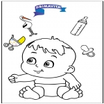 Tema-malesider - Coloringpage baby 3