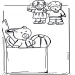 Børne-malesider - Coloringpage toys 2