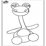 Børne-malesider - Coloringpage toys 3