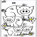 Håndarbejde - Count the pigs