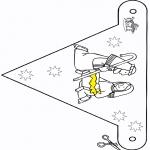 Jule-malesider - Crib Little flag
