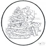 Prik-kort - Decorate chrismastree