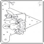 Håndarbejde - Decorationflag X-mas 1