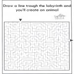 Håndarbejde - Dier labyrint kleuren 10