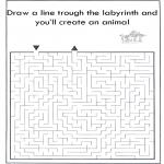Håndarbejde - Dier labyrint kleuren 2