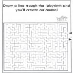 Håndarbejde - Dier labyrint kleuren 3