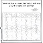 Håndarbejde - Dier labyrint kleuren 5