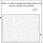 Håndarbejde - Dier labyrint kleuren 6