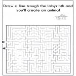 Håndarbejde - Dier labyrint kleuren 7
