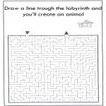 Håndarbejde - Dier labyrint kleuren 8